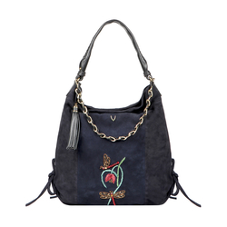COLETTE 03 WOMENS HANDBAG SUEDE,  midnight blue