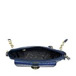 ELIZA 03 SB WOMENS HANDBAG OSTRICH EMBOSS,  midnight blue