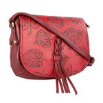 Meryl 03 Women s Handbag, E. I. Leaf Emboss Roma Split,  red