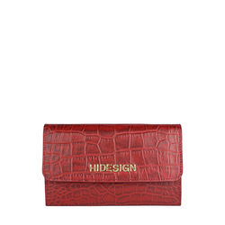 Carly W1 (Rfid) Women's Wallet, Croco Melbourne,  red