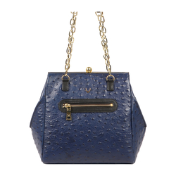 JAZZ 02 WOMEN'S HANDBAG OSTRICH EMBOSS,  midnight blue