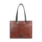 FUSCHIA 02 SB WOMENS HANDBAG FLOWER EMBOSSED,  brown
