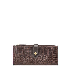 Hongkong W1 Sb (Rfid) Women's Wallet Croco,  brown