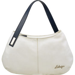 Opal 01 Handbag, cow deer,  white