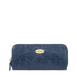 VIOLA W2 SB WOMENS WALLET FLOWER EMBOSSED,  midnight blue