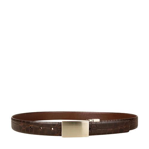 Robert 01 Men s belt, 38 40, ranch croco,  brown