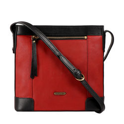 HIDESIGN X KALKI SURFER 02 SLING BAG WAXED SPLIT,  red