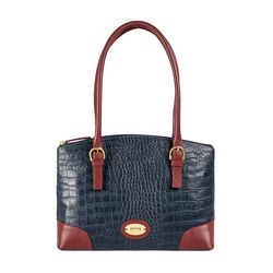 Saturn 01 Sb Women's Handbag Croco,  midnight blue