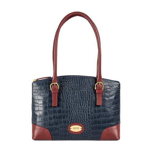 Saturn 01 Sb Women s Handbag Croco,  midnight blue