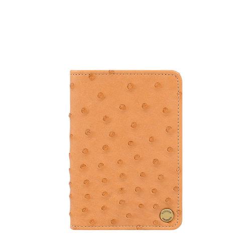 Chateau 03 Card Case Ostrich,  tan