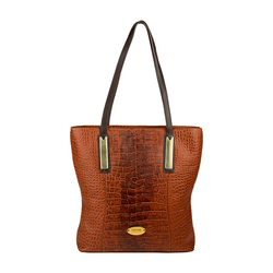 Claea 01 Handbag, croco,  tan