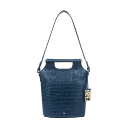 BLACK MAGIC 02 WOMENS HANDBAG CROCO,  midnight blue
