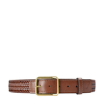 Pisa Men s Belt 32-34 Ranchero Woven,  tan
