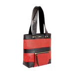 SURFER 01 WOMEN S SHOULDER BAG WAXED SPLIT,  red