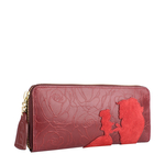 Rose W2 Women s wallet, Rose Emboss Mel Ranch Suede,  red