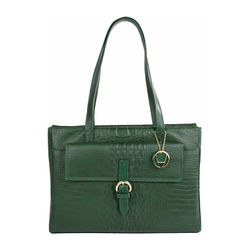 Rizzo 02 Handbag, baby croco,  emerald