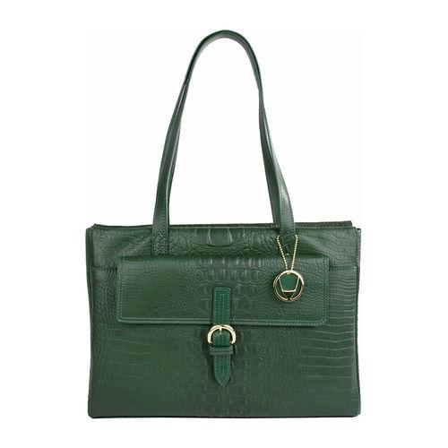 Rizzo 02 Women s Handbag, Baby Croco,  emerald green