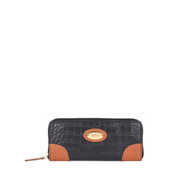 Saturn W2 Sb (Rfid) Women's Wallet, Croco Melbourne Ranch,  black