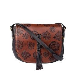 Meryl 01 Women's Handbag, E. I. Leaf Emboss Roma Split,  tan