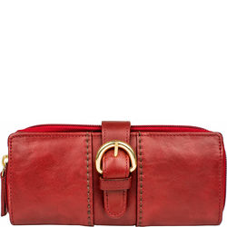 Aura W1 Women's Wallet, ranchero,  dark red