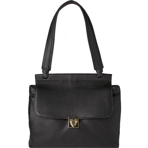 Alhena 02 Handbag, cow deer,  black