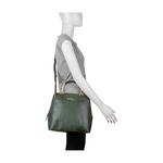 Royale 02 Women s Handbag, Snake Melran,  emerald green