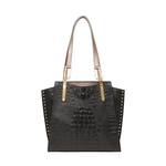 SPEAKEASY 01 WOMEN S HANDBAG BABY CROCO,  black