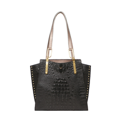 SPEAKEASY 01 WOMEN'S HANDBAG BABY CROCO,  black
