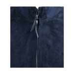 DEPP MENS JACKET GOAT SUEDE,  blue, l