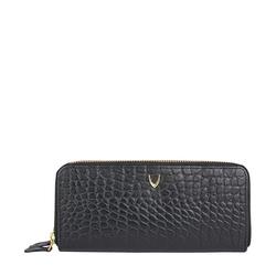 Martina Women's Wallet, Croco,  black