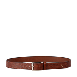 Ee Lewis Men's Belt Glazed Croco Printed, 40,  tan
