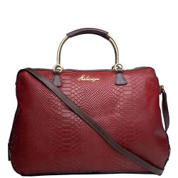 Royale 01 Satchel, snake,  red