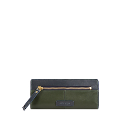 HIDESIGN X KALKI EDGE W1(RFID) WOMEN'S WALLET SOHO,  emerald green