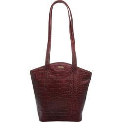 Bonn Handbag, croco,  red