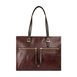 EE NEPTUNE 03 WOMENS HANDBAG OSTRICH EMBOSS,  brown