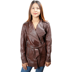 Bianca Women's Jacket Polished Lamb, m,  brown