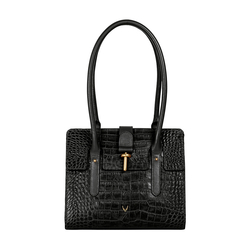 Mocha 01 Women's Handbag, Croco,  black