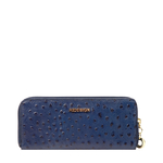 EE MOROCCO W2 RF WOMENS WALLET OSTRICH EMBOSS,  midnight blue