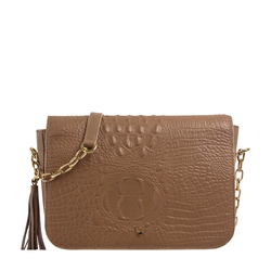 Rive Gauche 01 Women's Handbag, Baby Croco,  nude
