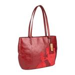 Rose 02 Women s Handbag, Rose Emboss Mel Ranch Split,  red