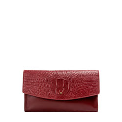 Hidesign X Kalki Alive W1 (Rfid) Women's Wallet, Baby Croco Mel Ranch,  red