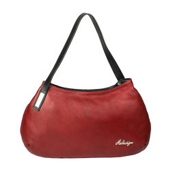 Opal 01 Handbag, cow deer,  red