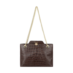 EE ALIYA 01 WOMENS HANDBAG CROCO,  brown