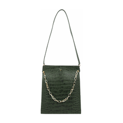 JITTERBUG 01 WOMEN'S HANDBAG CROCO,  emerald green