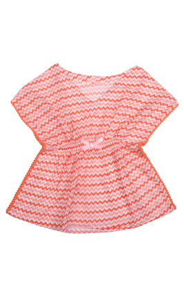 Chevron Peach Pink Tunic, 6m-12m