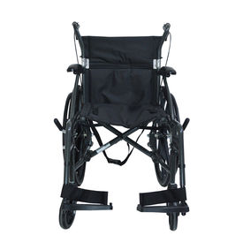 Foldable Aluminium wheelchair with 22  rear tyres (M604), metallic graphite