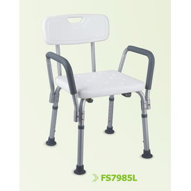Elegant shower chair with removable armrests (7985L)
