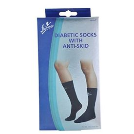 Diabetic Socks With Anti-Skid, white