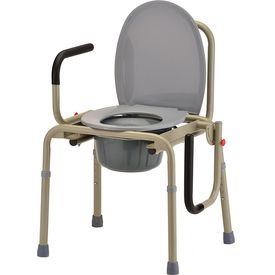 Deluxe commode chair with drop arm for heavy people (M303)