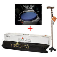 Combo Deal ( Swivel Seat+ Mobilita Walking cane)